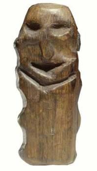 The Houten Idol; Wood, 5000 BCE, Willemstad